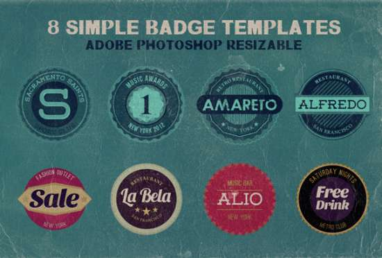 free_simple_badge_templates