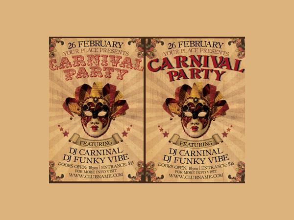 vintage_carnival_party_flyer