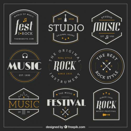 collection_of_retro_music_badges