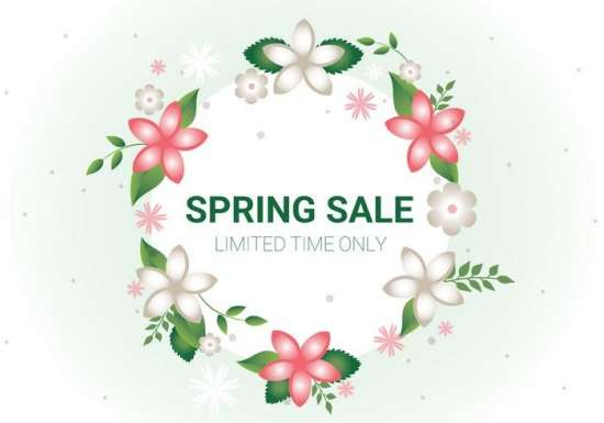 free_spring_sale_vector_background