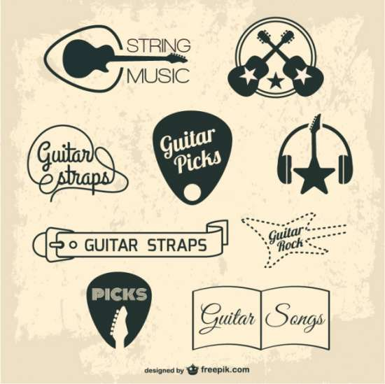 guitar_retro_graphic_elements