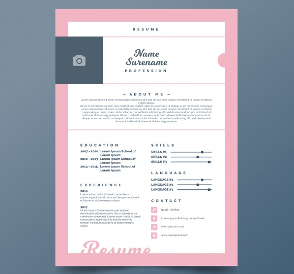 free_pretty_curriculum_template_with_pink_frame