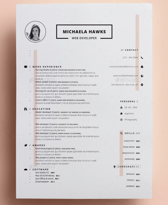 luxury_resume_for_women
