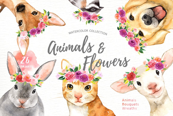 high_quality_hand_painted_watercolor_animals