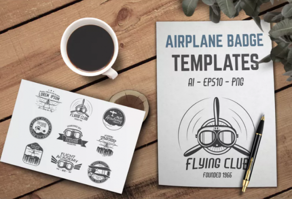retro_airplane_badge_vintage_logo_designs