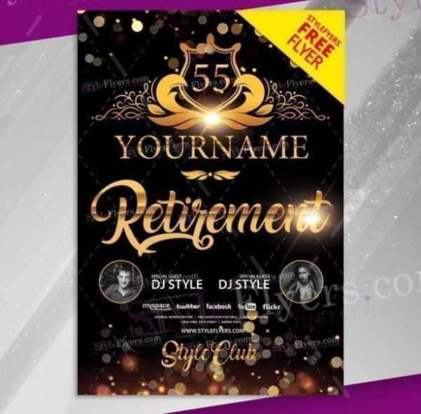 retirement_psd_flyer_template_with_black_background