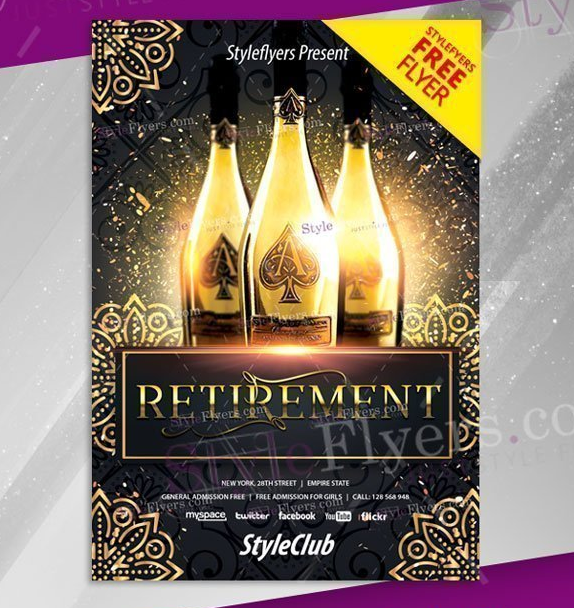 luxury_psd_retirement_flyer_template