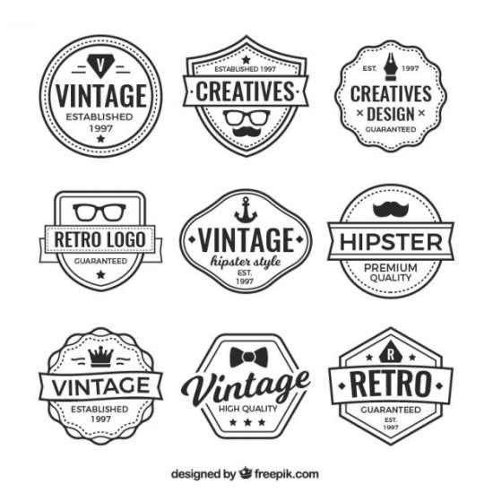 logos_and_vintage_badges_collection