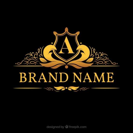 monogram_logo_with_golden_letter_a