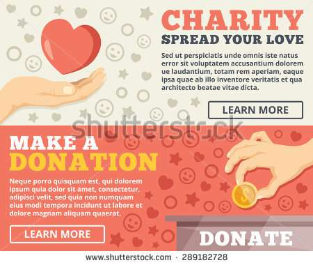 charity_donation_flat_illustration_concepts_set