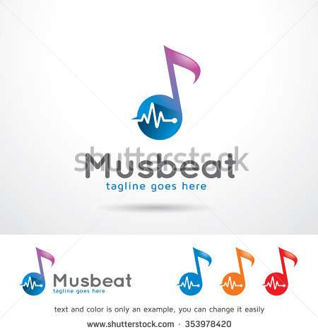 music_beat_logo_template_design_vector
