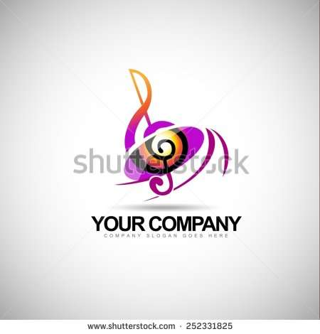 musical_key_note_template_logo_for_a_musical_company