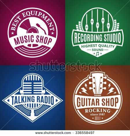 set_of_vector_music_logo
