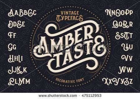 vintage_decorative_font_with_label_design_and_background_pattern