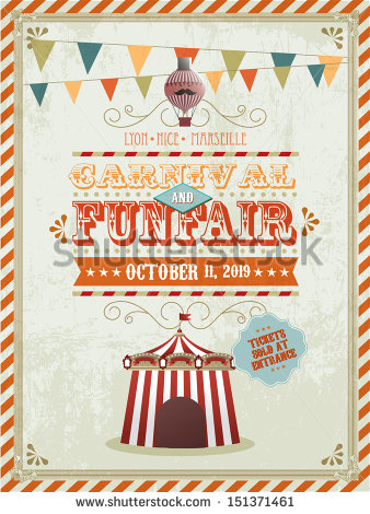 vintage_fun_fair_and_carnival_poster_template_vectorillustration
