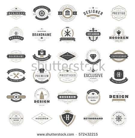 vintage_logos_design_templates_set