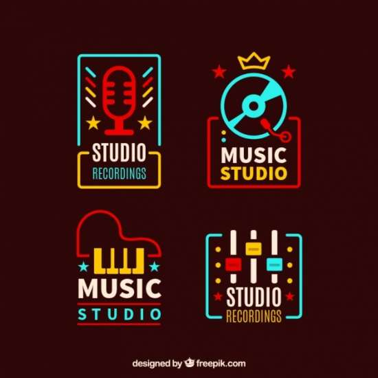 vintage_colored_music_logotypes_pack