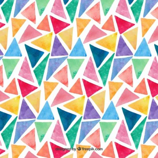 colorful_watercolor_triangles_pattern