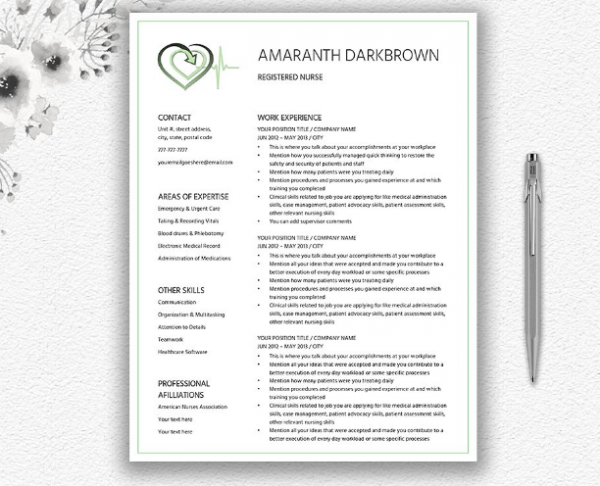 resume_template_for_medical_nurse_doctor
