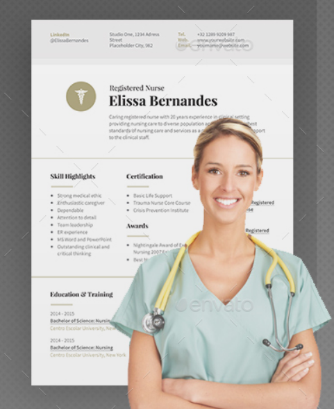 clean_nurse_resume_template
