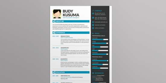 brand_id_resume_template_psd