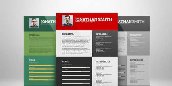 flat_resume_template_psd