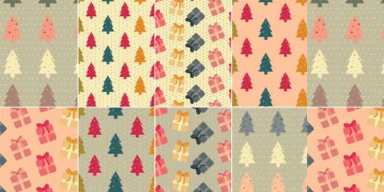 free_colorful_christmas_patterns_ai_eps