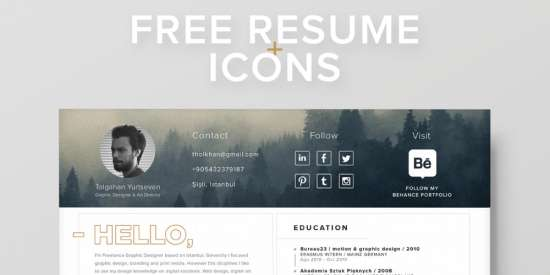 free_resume_template_+_icons_ai