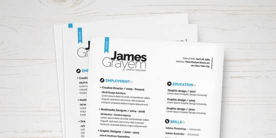 free_resume_template_psd