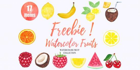 free_watercolor_fruits_png_jpeg