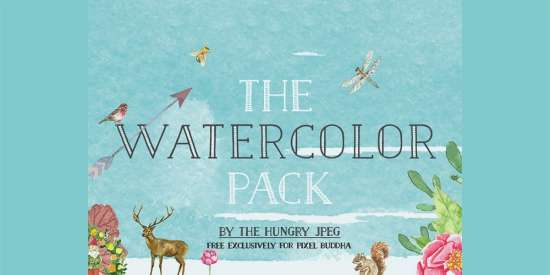 free_watercolor_pack