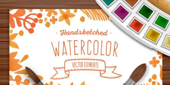 free_watercolor_vector_elements_ai_eps