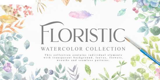 free_watercolour_graphics_collection