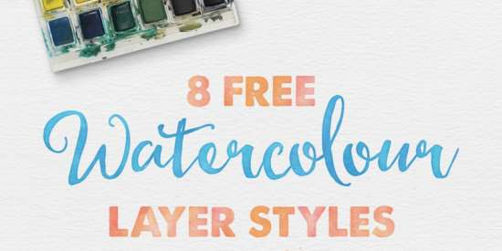 free_watercolour_layer_styes_for_photoshop