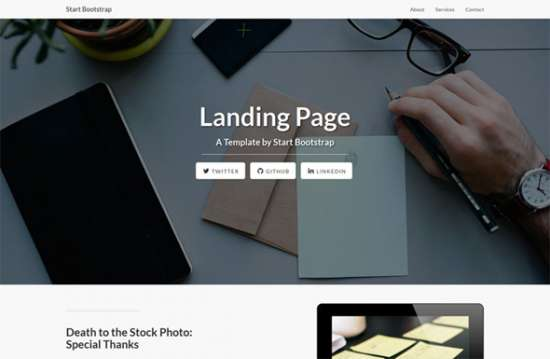 landing_page_bootstrap_landing_page_template