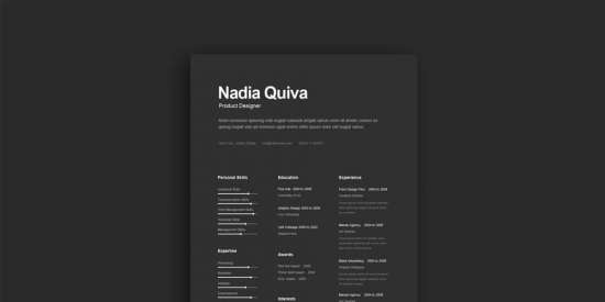 simple_a4_dark_resume_template_ai