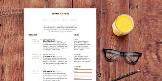 simple_timeline_resume_template_indd