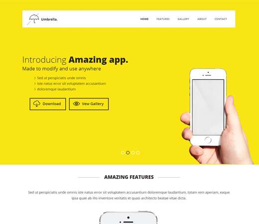 umbrella_responsive_app_landing_page_website_template