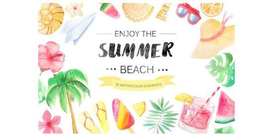 watercolor_beach_set_png