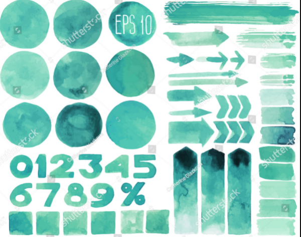 collection_of_watercolor_design_elements_isolated_on_white_background