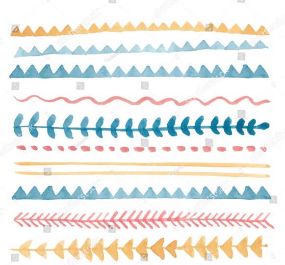 vector_watercolor_design_elements_lines_brushes_drops_arrows_triangles