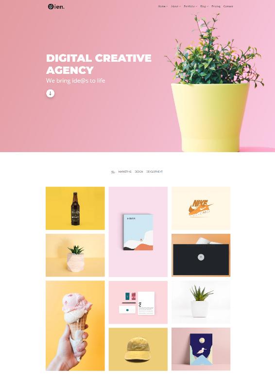 zien_creative_portfolio_landing_page