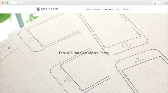 ideatoapp_free_ios_dot_grid_sketch_paper