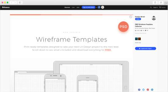 free_wireframe_templates_collection