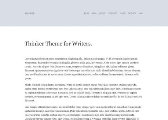 thinker_theme_for_writers