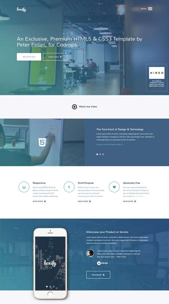boxify_free_one_page_website_template