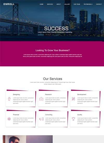 enroll_html_corporate_website_template