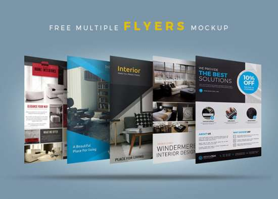 multiple_psd_flyers_mockup