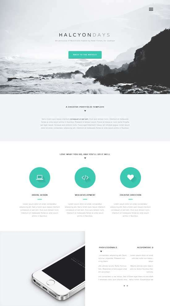 halcyon_days_free_one_page_website_template