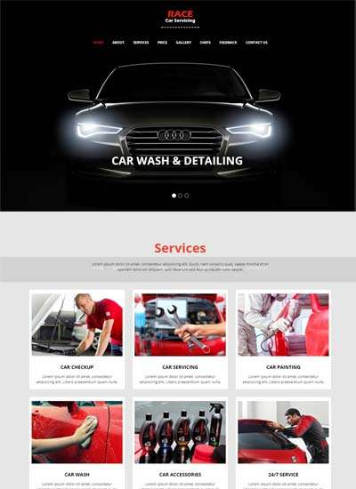 race_car_wash_website_bootstrap_html_template